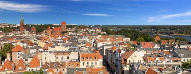 widok na nowe i stare miasto