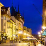 Streets of Torun in evening2