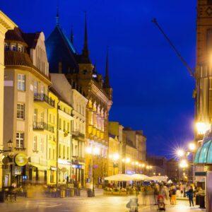 Streets of Torun in evening2